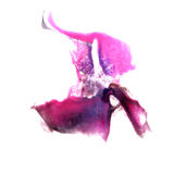 Art Violet, pinkwatercolor ink paint blob Stock Image