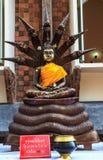 Art von Buddha mit einem Naga Stockfotografie