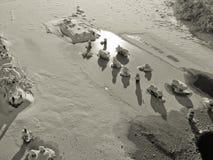 Art von gefrorenem Fluss Lizenzfreie Stockfotografie
