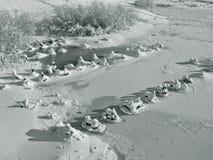 Art von gefrorenem Fluss Lizenzfreies Stockfoto