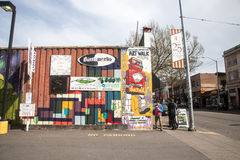 Art Walk Mural, Wallingford Seattle Images libres de droits