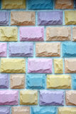 Art walls with colorful. Royalty Free Stock Photo