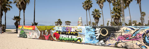 Art walls on Venice beach, Los Angeles Stock Photo