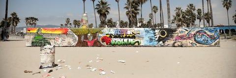 Art walls on Venice beach, Los Angeles Stock Image