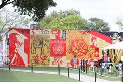 Art Walls at Wynwood Miami FL stock photo