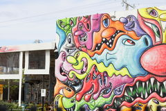 Art Walls at Wynwood Miami FL Stock Image