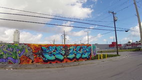 Art walls at Wynwood Miami Royalty Free Stock Image