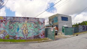 Art walls at Wynwood Miami Stock Photo