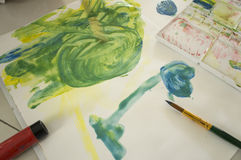 Art water color education kid play fun concept Royalty Free Stock Photography