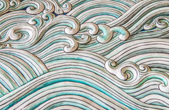 Art of water wave in chinese style stock image