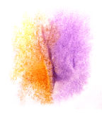 Art  watercolor ink paint blob watercolour splash Stock Images
