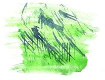 Art watercolor ink paint green blob watercolour Stock Photos