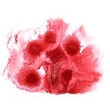 Art watercolor ink paint red blob watercolour. Splash colorful stain isolated on white background texture royalty free stock photo