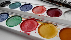 Art watercolor palette Royalty Free Stock Photo