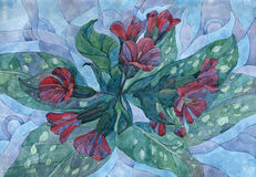 Art watercolours flowers Royalty Free Stock Photography