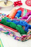 Art of weaving and embroidering Stock Images