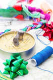 Art of weaving and embroidering Royalty Free Stock Photo