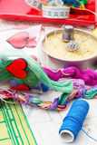 Art of weaving and embroidering Royalty Free Stock Photos