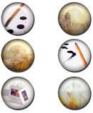 Art Web Buttons Royalty Free Stock Images