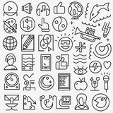 Art web icons. Art music web icons set , design elements vector illustration