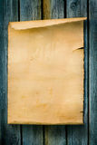 Art Western style sign Old paper and wood. Western style sign Old paper scroll and wood royalty free stock photos