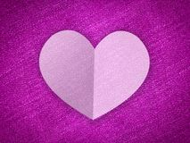 Art white heart on grunge pink background Royalty Free Stock Images