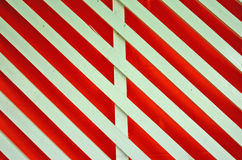 Art of white lath. White lath on red background Stock Images