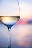 Art white wine on the sky background Stock Image