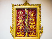 Art of windows in thai temple. Temple in Thailand A window with many beautiful decorative art Royalty Free Stock Image