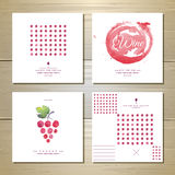 Art wine cards and labels design Royalty Free Stock Photography