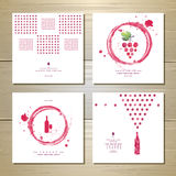 Art wine cards and labels design Royalty Free Stock Photo