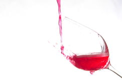 Art on wine Glass. Art wine glasses that can be assembled in other businesses Stock Image