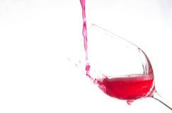 Art on wine Glass Stock Image