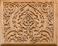 Art of wood carving. Details threads Stock Photo