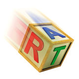 Art Wooden Block Means Creating Crafts Or Designing Royalty Free Stock Images