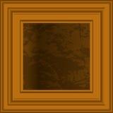 Art in wooden frame. stock illustration