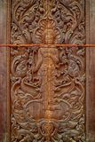 Art of wooden in temple Thailand Stock Photo