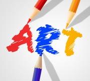 Art Word Indicates Artwork Paint And Crafts Stock Photos