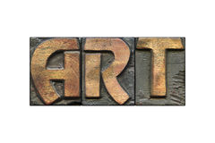 Art word isolated Royalty Free Stock Image