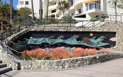 Art Work At The North End Of The Boardwalk On Main Beach In Laguna Beach, California. Royalty Free Stock Photos