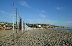 Art work called 1/4 Mile Arc on Main Beach of Laguna Beach. California. Stock Photo