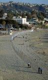 Art work called 1/4 Mile Arc on Main Beach of Laguna Beach. California. Royalty Free Stock Photography