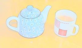 Artwork Tea Cup Royalty Free Stock Photos