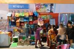 Art work , Indian handicrafts fair at Kolkata Stock Image