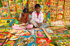 Art work , Indian handicrafts fair at Kolkata Stock Images