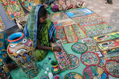 Art work , Indian handicrafts fair at Kolkata Royalty Free Stock Photos