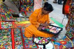 Art work , Indian handicrafts fair at Kolkata Royalty Free Stock Images