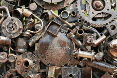 Art work made out of scrap iron and metal parts Royalty Free Stock Image