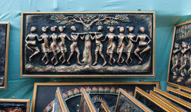 Art work on nature , Indian handicrafts fair at Kolkata Royalty Free Stock Images