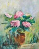 Hydrangea oil painting Royalty Free Stock Photos